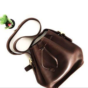 {COACH} Vintage Bucket Drawstring Handbag Brown